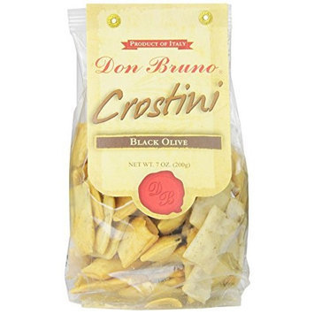 Don Bruno Black Olive Crostini, 7-Ounce Bags (Pack of 6)