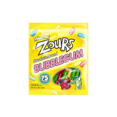 Carousel Mike & Ike Zours Fruit Flavored Sour Bubble Gum 4.25 Oz Bag (Pack of 4)
