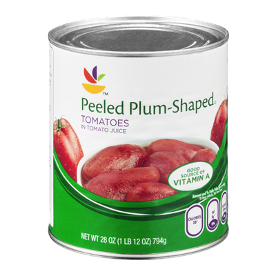 Ahold Tomatoes Peeled Plum Shaped in Tomato Juice