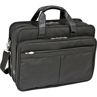 McKlein USA Ballistic Nylon Expandable Double Compartment Laptop Case in Black