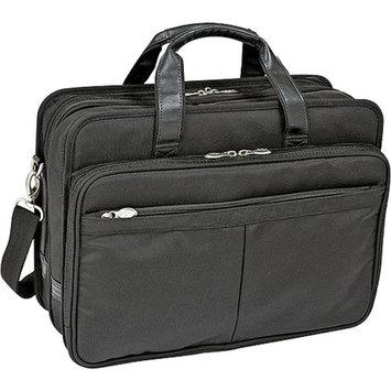 McKlein USA Ballistic Nylon Expandable Double Compartment Laptop Case in Black