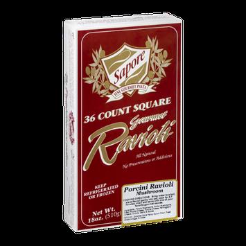 Sapore Fine Gourmet Pasta Square Ravioli Porcini Mushroom - 36 CT