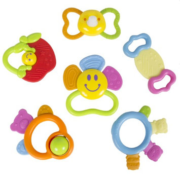 Sky (Set of 6) Baby Teether Toy with Unique Fun Shapes, 100% BPA Free