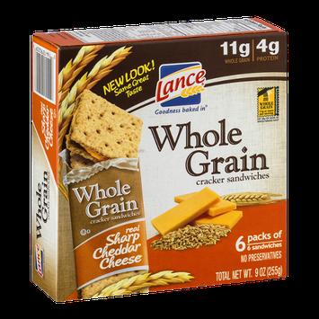 Lance Whole Grain Cracker Sandwiches Sharp Cheddar Cheese - 6 CT