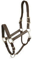 Gatsby Adjustable Padded Leather Halter Horse Brown