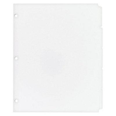Avery 11 x 8-1/2 Write-On Plain Tab Dividers, 5-Tab- White (36 Sets