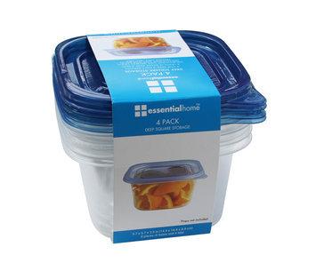 Shye U.s.a. Essential Home 4PK Deep Square Storage