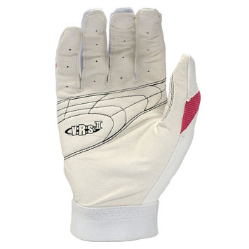 Cycle Products Co. Easton Reflex Batting Glove Adult Large White/Pink - CYCLE PRODUCTS CO.