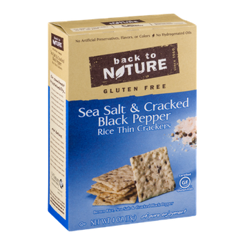 Back To Nature Rice Thin Crackers Seat Salt & Cracked Black Pepper