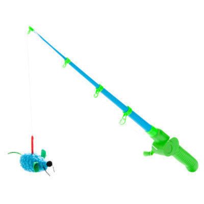 Grreat ChoiceA Fishing Rod Teaser Cat Toy