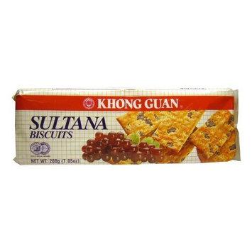 Khong Guan Sultana, 7.05 Ounce (Pack of 8)