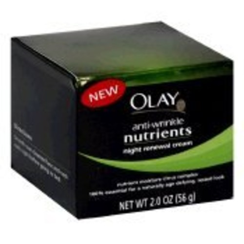 Olay Anti-Wrinkle Nutrients Night Renewal Cream - 2 oz