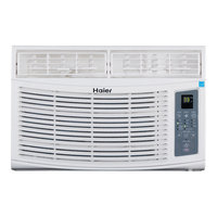 Haier America Trading Llc Energy Star 6,000 BTU 115V Window-Mounted Air Conditioner with MagnaClik Remote with Braille
