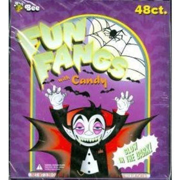 Bee International Halloween Fun Fangs filled with Halloween Candy (48 Individually Wrapped Glow in the Dark Fangs)