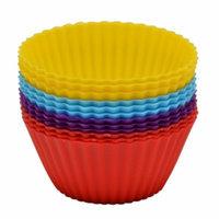 GGI International Silicone Cupcake Mold, Multi Color, 3.2 oz, 1 ea