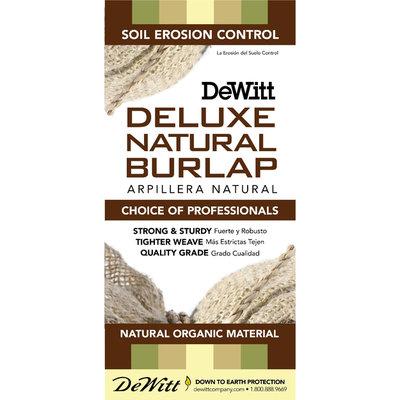 Dewitt Co., Inc. DeWitt Deluxe Natural Burlap 7oz 3'x48' Retail Burlap
