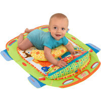 Bright Starts Tummy Cruiser Prop and Play Mat - Blue