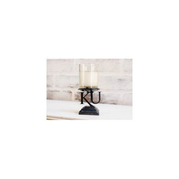 Hensonmetalworks University of Collegiate Logo Metal Votive Candle Stand, Kansas