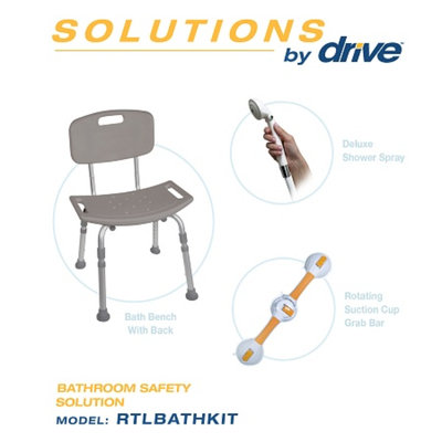 Drive Medical 3-Piece Bath Safety Kit