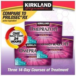 Kirkland Signature Omeprazole Acid Reducer 20 mg Delayed Release, 42 Tablets