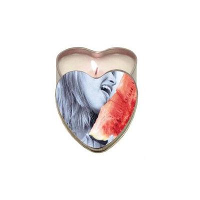 Earthly Body Suntouched Hemp Edible Candle - 4.7 oz Heart Tin Watermelon