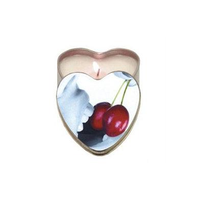 Earthly Body Edible Heart Candle, Cherry, 4 oz