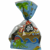 Celebrate Rectangular Pirate Treat Bags with Ties