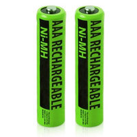 NiMH AAA Batteries (2-Pack) 2 Pack Replacement Battery