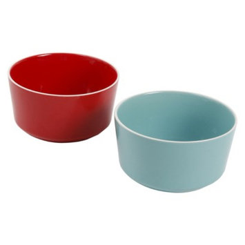 Room Essentials Stoneware Ramekin - Red/Blue (Large)