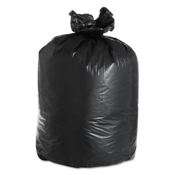 Boardwalk Kitchen Garbage Bags Low Density Black Flat-Bottom Trash