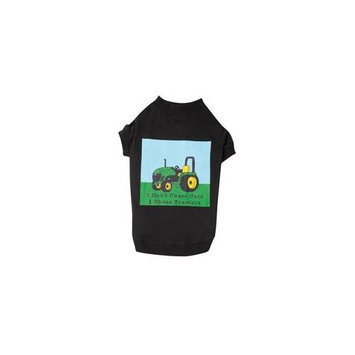 Zack And Zoey Pet Pals UM1286 20 17 Zack & Zoey Tractor Tee Lrg Black P