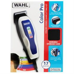 WAHL WHITE HAIRCUTTING KIT COLOR CODED BLADES