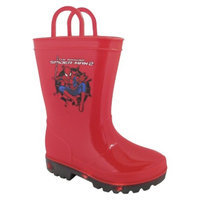 Toddler Boy's Light Up Spiderman Rain Boots - Red 10