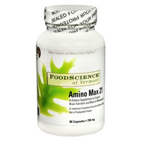 FoodScience of Vermont Amino Max 21 750 mg Dietary Supplement Capsules