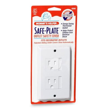 Mommy's Helper White Safe-Plate Decorative Outlet Cover