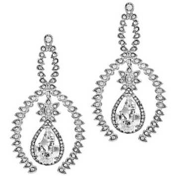 Emitations Wedding Jewelry: Arista's Fancy Rhinestones& CZ Earrings