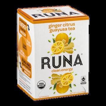 Runa Ginger Citrus Guayusa Tea Clean Energy - 16 CT