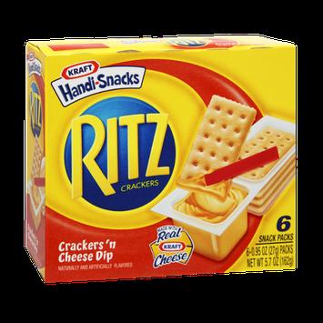 Kraft Handi-Snacks Ritz Crackers 'n Cheese Dip Snack - 6 PK