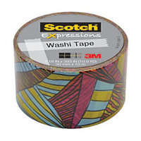 Scotch(R) Expressions Washi Tape, 1 3/16in. x 394in, Kaleidoscope