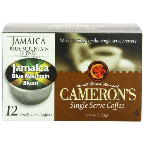 Cameron's Single Serve Coffee, Jamaica Blue Mountain Blend, 12 Count (Pack of 6)