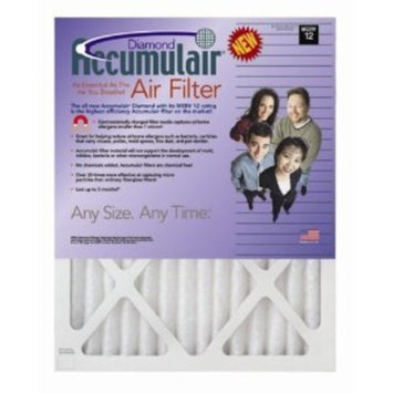 12.75x21x1 (Actual Size) Accumulair Diamond 1-Inch Filter (MERV 13) (4 Pack)