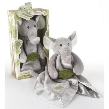 Baby Aspen Little Expeditions Plush Rattle Lovie - Ekko the Elephant