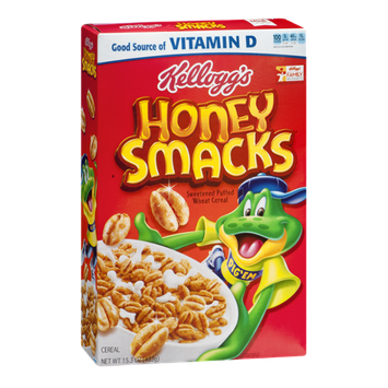 Kellogg's Honey Smacks Sweeted Puffed Wheat Cereal