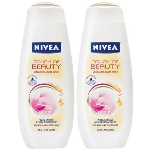 Nivea Body Wash Touch of Beauty Cream Oil Body Wash, 16.9 oz