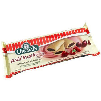 OrgraN Wild Raspberry Filled Gluten Free Cookies, 6.2-Ounce Packages (Pack of 4)