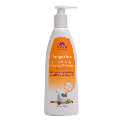 derma e Tangerine Hand & Body Moisture Therapy Lotion, 12-Ounce Bottle (Pack of 2)