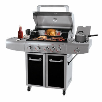 Blue Rhino Deluxe Outdoor LP Gas Barbeque Grill, Stainless Steel, 1 ea