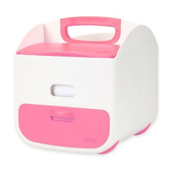 Ubbi Diaper Caddy - White and Pink by Ubbi