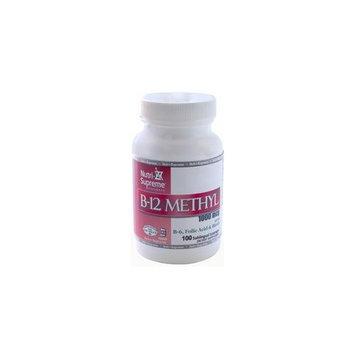 Nutri Supreme Research Nutri-Supreme Research Kosher B12 Lozenge (Methyl) W/ B6- Folic Acid and Biotin 100 Lozenges
