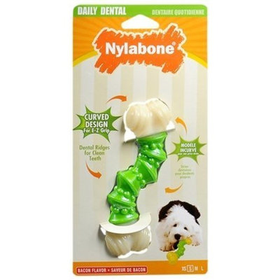 Nylabone Daily Dental Dog Chew Flavor Bacon Size Small NTG22W